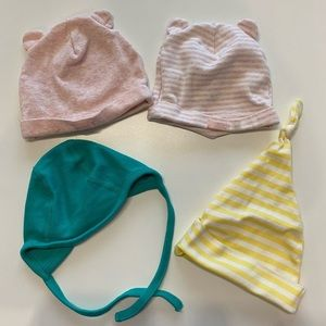 Set of 4 Newborn Hats
